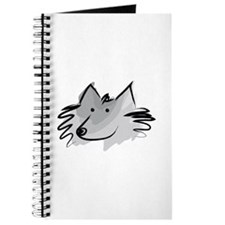 Cute Schipperke dog Journal