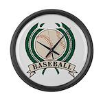 Baseball Large Wall Clock