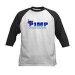 pimp poop in my pants Kids Baseball Jersey
