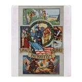 Loyalty Patriotism Service Throw Blanket