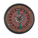 Roulette Large Wall Clock