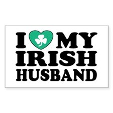 I Love My Irish Husband Rectangle Decal