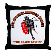 SOF - 1st SSF - Black Devils Throw Pillow