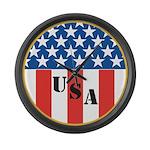 USA Large Wall Clock