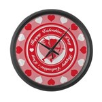 Valentines Large Wall Clock