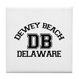 Dewey Beach DE - Varsity Design Tile Coaster