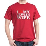 I Love My Jewish Wife Black T-Shirt