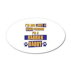 Harrier Daddy 22x14 Oval Wall Peel