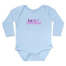 Eat Sleep Love Mimi Long Sleeve Infant Bodysuit