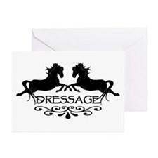 black capriole horses Greeting Cards (Pk of 10