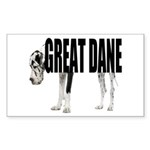 Great Dane Sticker (Rectangle 10 pk)