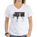 Great Dane Women's V-Neck T-Shirt