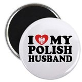 I Love My Polish Husband Magnet
