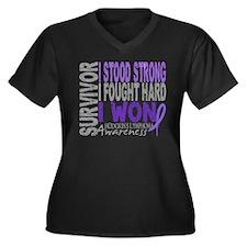 Survivor 4 Hodgkin's Lymphoma Women's Plus Size V-