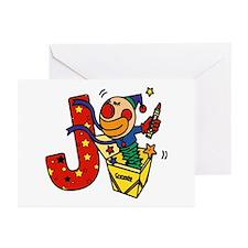 Alphabet letter for J names Greeting Cards (Packag