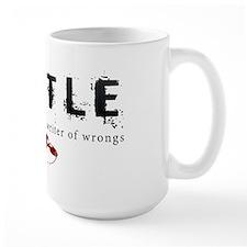 Castle writer of wrongs art p Large Mug