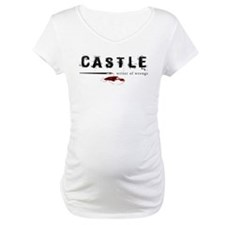 Castle writer of wrongs art p Maternity T-Shirt