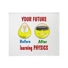 Physics Future Throw Blanket