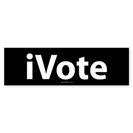 iVote Black Bumper Sticker