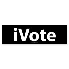 iVote Black Bumper Bumper Sticker
