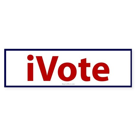 iVote Red, White & Blue Bumper Sticker