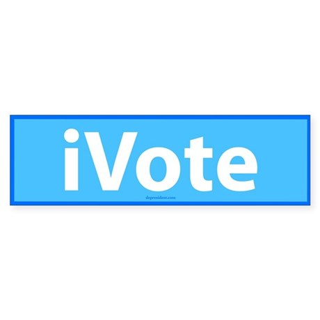 iVote Blue Bumper Sticker