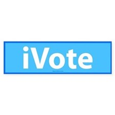 iVote Blue Bumper Bumper Sticker