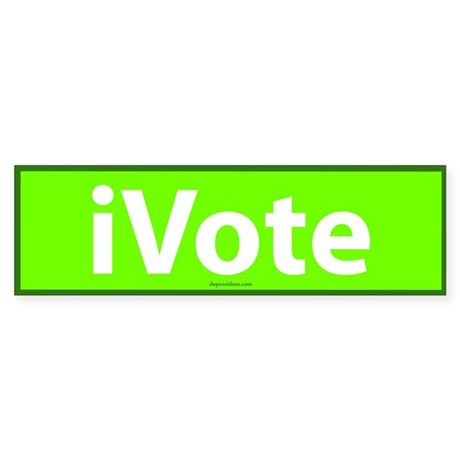 iVote Green Bumper Sticker