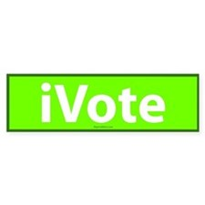 iVote Green Bumper Bumper Sticker
