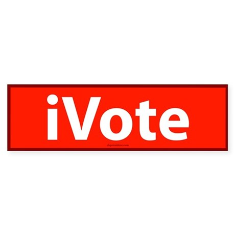 iVote Orange Bumper Sticker