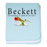 Beckett can handcuff n spank baby blanket