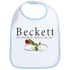 Beckett can handcuff n spank Bib