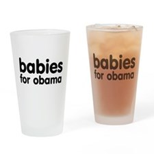Babies For Obama Pint Glass