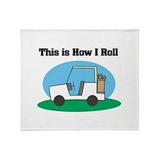 How I Roll (Golf Cart) Throw Blanket