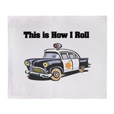 How I Roll (Police Car) Throw Blanket