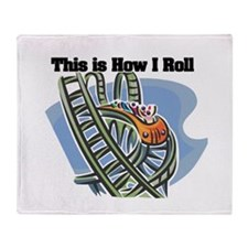 How I Roll (Roller Coaster) Throw Blanket