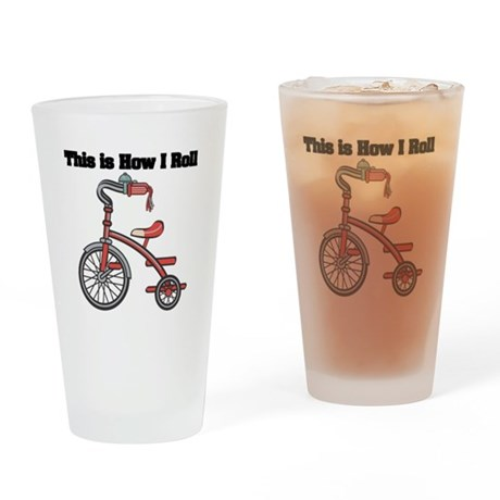 How I Roll (Tricycle) Pint Glass