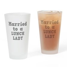 Married to a Lunch Lady Pint Glass