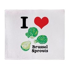 I Heart (Love) Brussel Sprout Throw Blanket