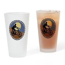 Mountain Bike Chain Design Pint Glass