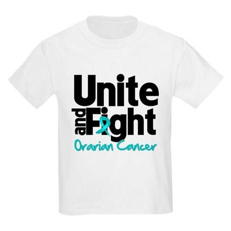 Unite Fight Ovarian Cancer Kids Light T-Shirt