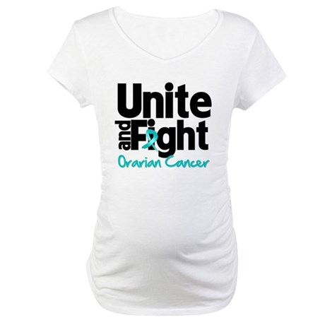 Unite Fight Ovarian Cancer Maternity T-Shirt