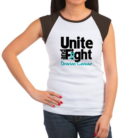 Unite Fight Ovarian Cancer Women's Cap Sleeve T-Sh