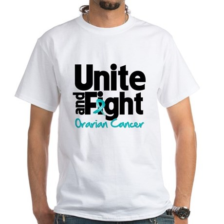 Unite Fight Ovarian Cancer White T-Shirt