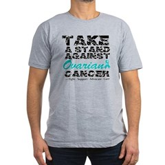 Take a Stand Ovarian Cancer Men's Fitted T-Shirt (