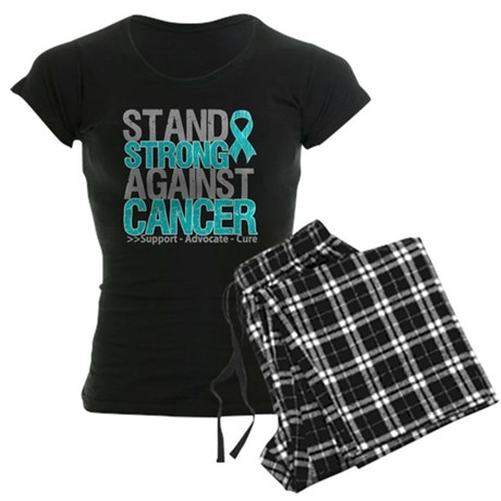 Stand Strong Ovarian Cancer Women's Dark Pajamas