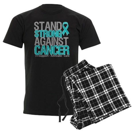 Stand Strong Ovarian Cancer Men's Dark Pajamas