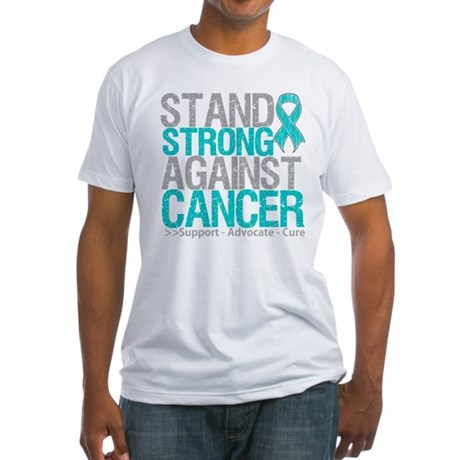 Stand Strong Ovarian Cancer Fitted T-Shirt