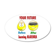 Algebra Future 38.5 x 24.5 Oval Wall Peel