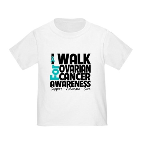 Walk Ovarian Cancer Toddler T-Shirt